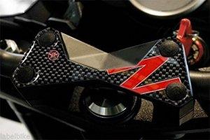 PROTECTION 3D PLAQUE FOURCHE compatible MOTO KAWASAKI Z750 Z1000 z ROUGE