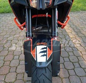 PROTECTION GARDE-BOUE AVANT adhésifs 3D compatible pour MOTO KTM 1290 ADVENTURE