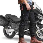 Protection Moto Pantalon Jeans Moto Pantalon d'Équitation avec Protéger Pads Noir (L- (Waist 34.5″))