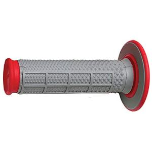 Renthal G163 Red/Gray Diamond/Waffle Soft/Firm Compound Tapered Motocross Grip by Renthal