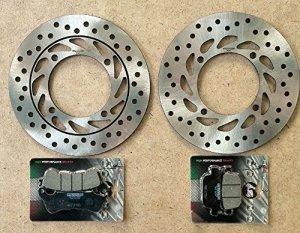 RMS Kit freins pour Honda SH 1502009/2012disque de frein arrière 225162260, disque de frein avant 225160350,plaquettes arrière 225102560, plaquettes avant 225102540