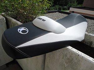 SET REVÊTEMENT SELLE KYMCO 300R housse de siège BLANC TUNING pour MOTORRAD XCITING 300 R