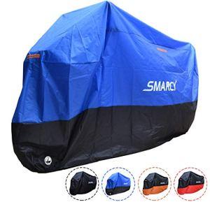 SMARCY® Housse Bâche pour Moto Scooter Taille XXXL Couleur Bleu et Noir