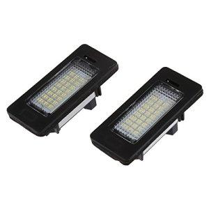 SODIAL(R) Lot de 2 lampes 24 LED 3528 pour plaques d'immatriculation de BMW E39 E60 E61 E90 serie 5