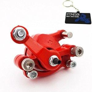 Stoneder Rouge arrière côté droit Frein à disque à coulisse pour moteur 2temps 43cc 47cc 49cc MINI MOTO Pocket Dirt bike gaz Scooter