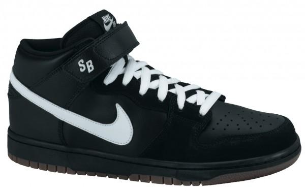 Nike Dunk Mid Pro SB - Black - White