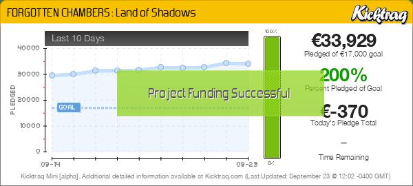 FORGOTTEN CHAMBERS : Land of Shadows -- Kicktraq Mini