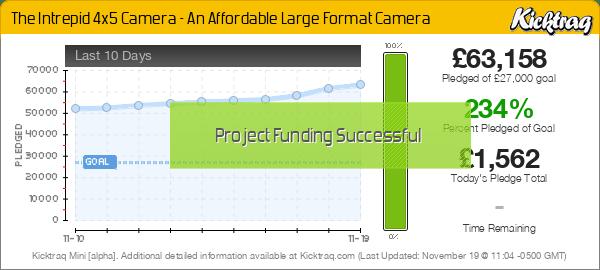 The Intrepid 4x5 Camera - An Affordable Large Format Camera -- Kicktraq Mini