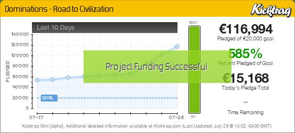 Dominations - Road to Civilization -- Kicktraq Mini