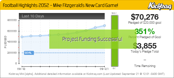 Football Highlights 2052 – Mike Fitzgerald's New Card Game! -- Kicktraq Mini