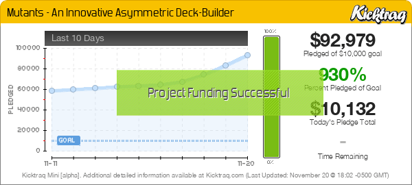 Mutants - An Innovative Asymmetric Deck-Builder -- Kicktraq Mini