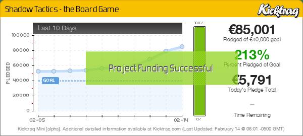 Shadow Tactics - the Board Game -- Kicktraq Mini