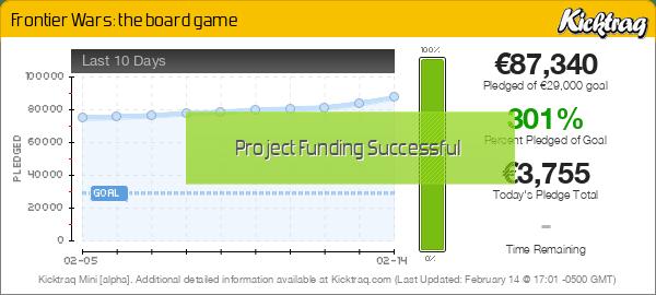 Frontier Wars: the board game -- Kicktraq Mini