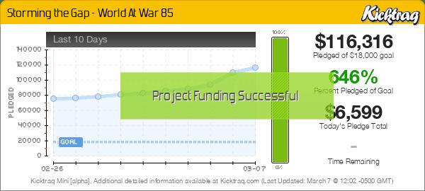 Storming the Gap - World At War 85 -- Kicktraq Mini