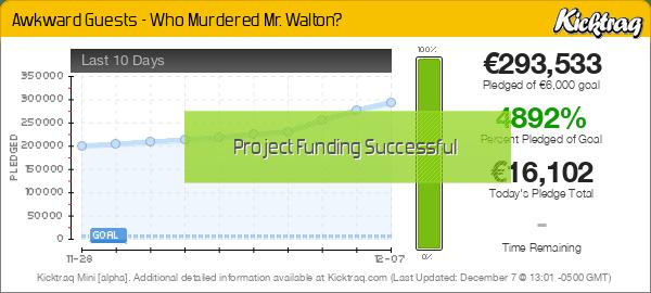 Awkward Guests - Who Murdered Mr. Walton? -- Kicktraq Mini