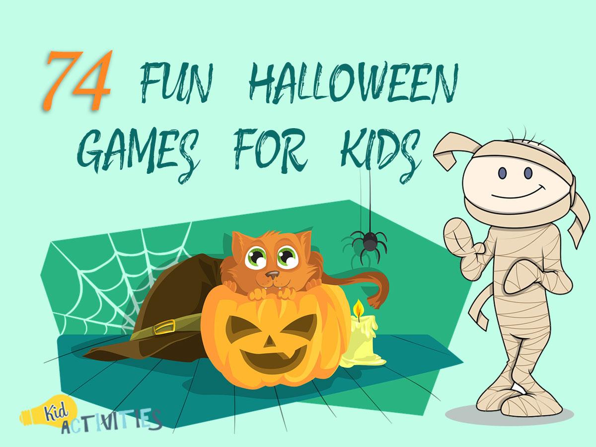 74 Fun Halloween Games For Kids Halloween Game Ideas