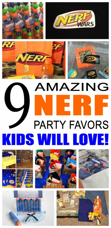 nerf party favor ideas
