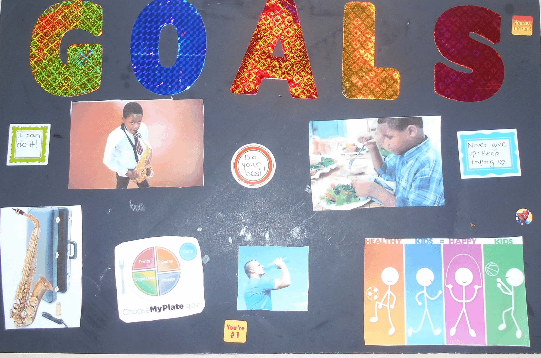 Goal And Vision Board Worksheet