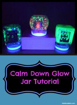 How to make a calm down glow jar