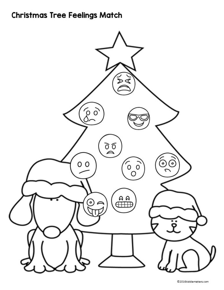 Emoji Feeling Faces Christmas Treeas Tree