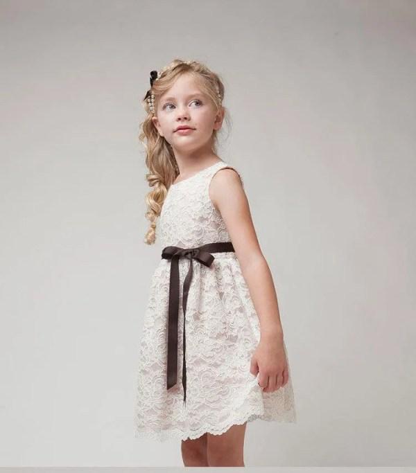 שמלת תחרה שמנת