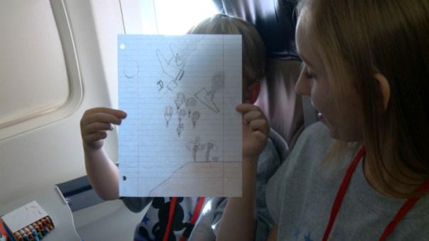 Plane Crash Drawing