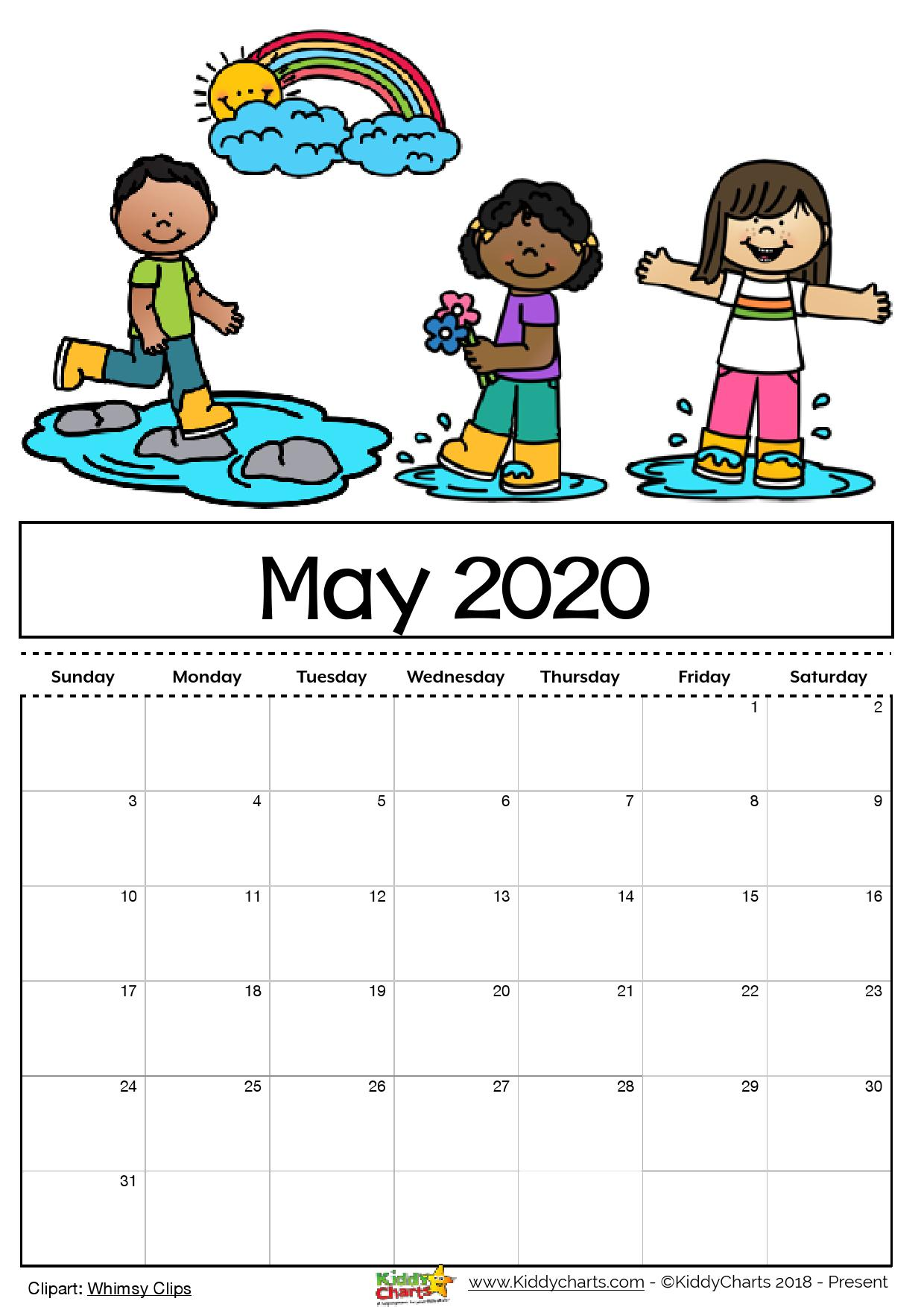 Free Printable Calendar For Kids Including An Editable Version