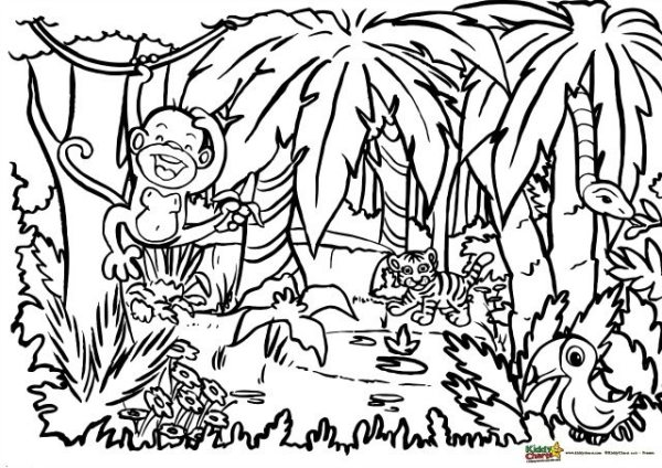 jungle coloring page # 7