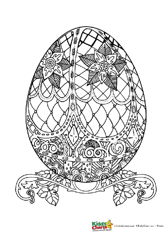 Easter egg coloring pages for kids and adults   KiddyCharts   free printable easter egg coloring pages for adults