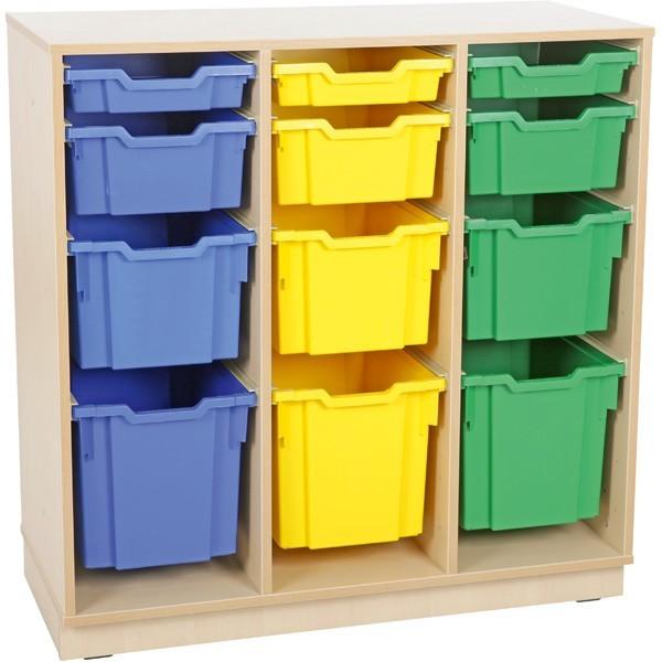 meuble avec 12 bacs plastiques
