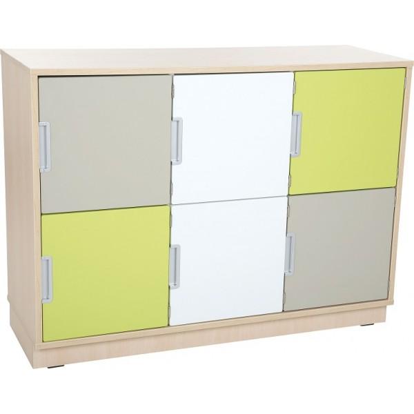 meuble bas avec casiers et portes