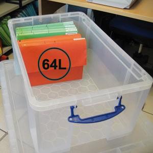 boite de rangement en plastique translucide avec couvercle et poignees 16 formats au choix