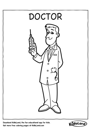 doctor coloring page # 8