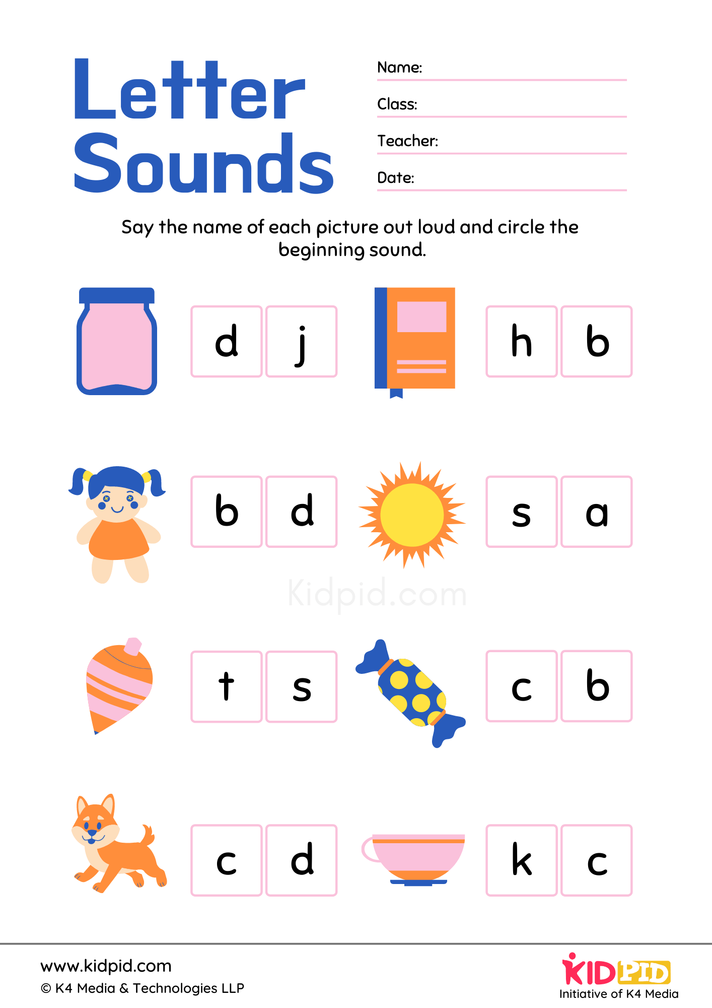 Identifying Letter Foundational Printable Worksheet
