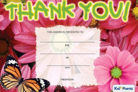 Free Thank You Certificates for Kids   Kid Pointz Printable Thank You Certificate
