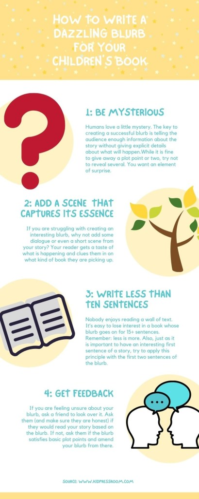 Write Dazzling Blurb for Your Children's Books with This Infographic - KIDPRESSROOM