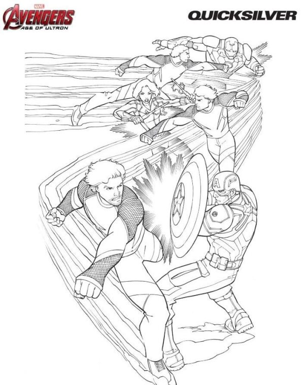 18 Coloring Pages Of Avengers