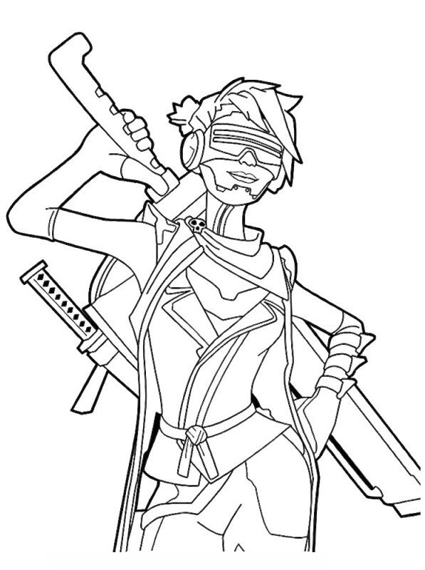 Kids N Fun Com Coloring Page Fortnite Ninja