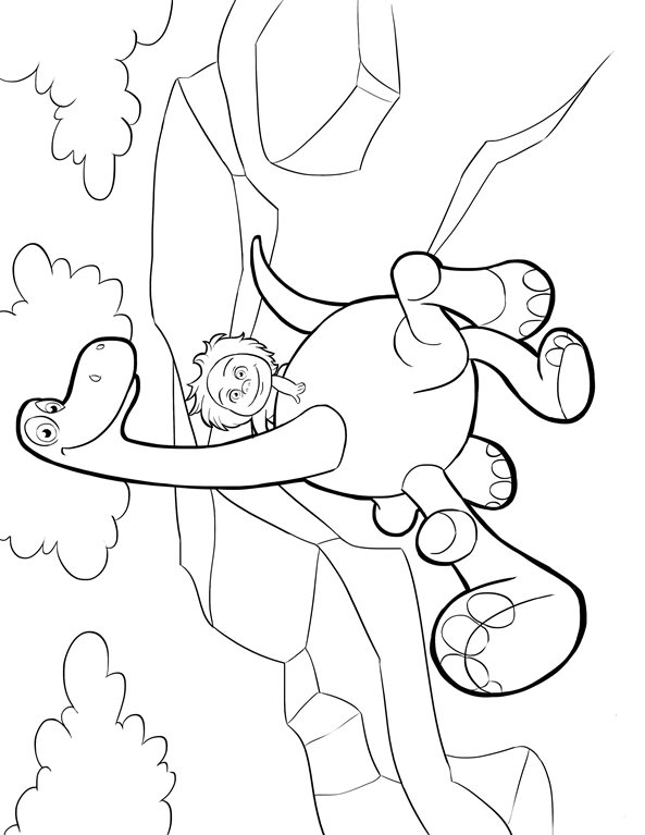kidsnfun   coloring pages of good dinosaur