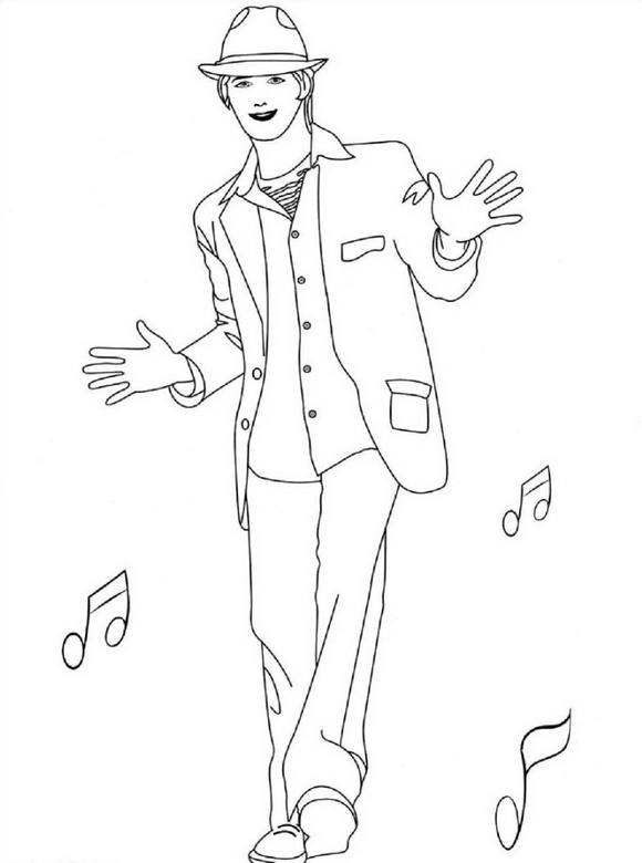 high school musical coloring pages # 17