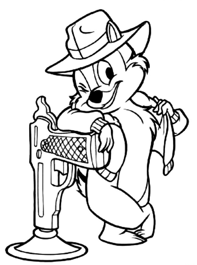 kidsnfun   coloring pages of chip and dale