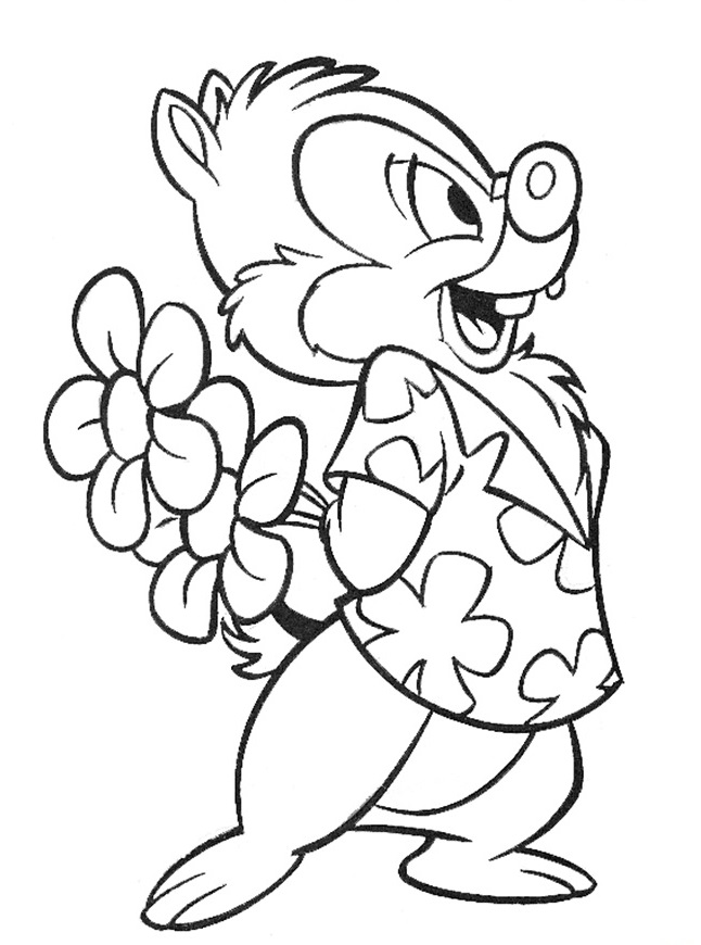 35 Coloring Pages Of Chip And Dale