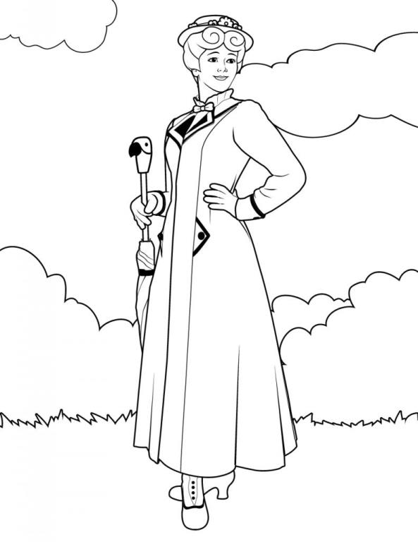 17 Coloring Pages Of Mary Poppins