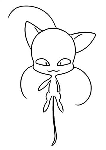 Kids N Fun Com 19 Coloring Pages Of Miraculous Tales Of Ladybug And Cat Noir