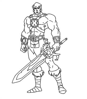 knight coloring page # 5