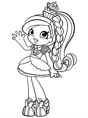 Kids N Fun Com 28 Coloring Pages Of Shopkin Shoppies
