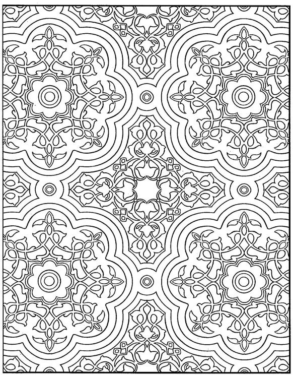 coloring page Tiles Kids-n-Fun