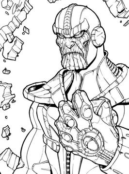 Kids N Fun Com 12 Coloring Pages Of Thanos
