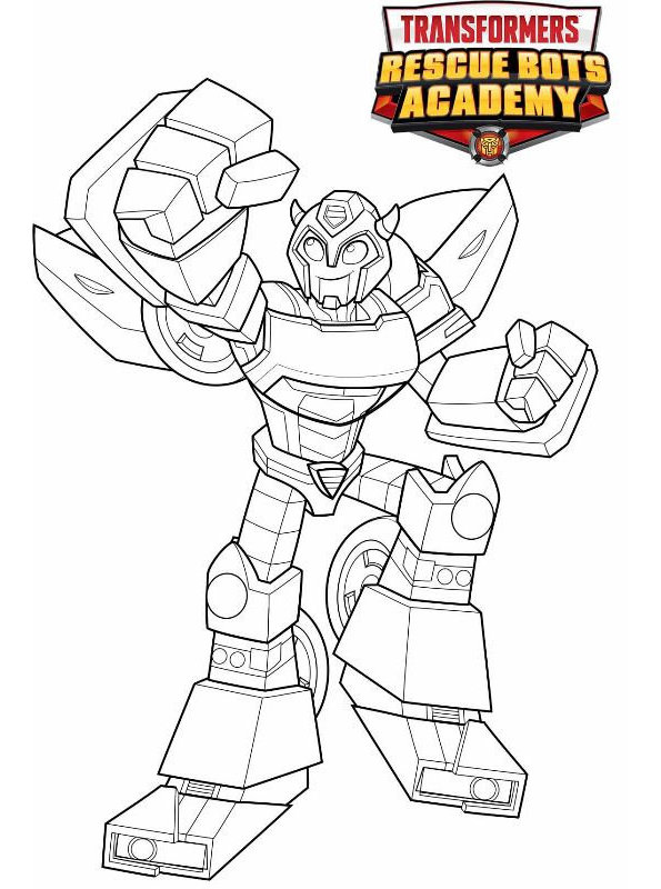 Kids N Fun Com Coloring Page Transformers Rescue Bots Bumblebee