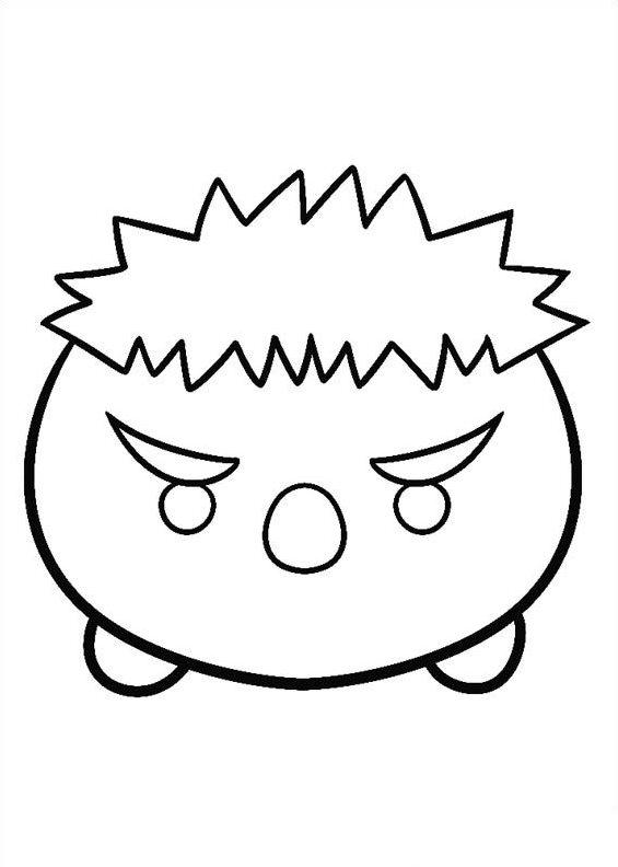 Kids N Fun Com Coloring Page Tsum Tsum Hulk
